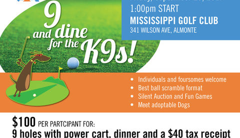 Nine and Dine for the Canines Charity Golf Tournament